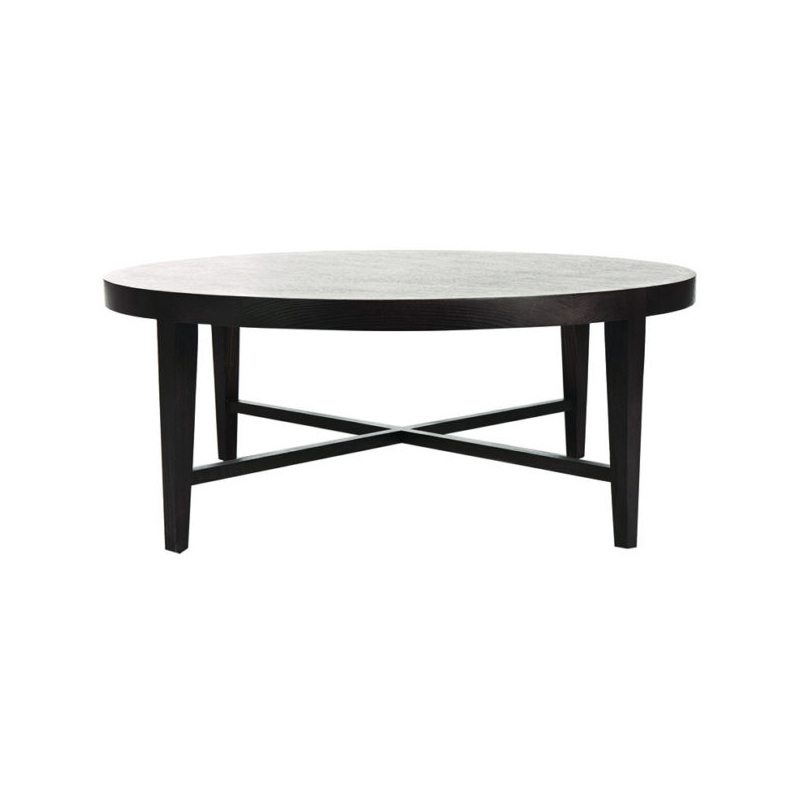 Ascot Round Glass Coffee Table: Ascot Round Coffee Table In Mocca