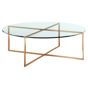 6be95d45771b Elle Round Nest Coffee Tables in White Marble and Black Frame