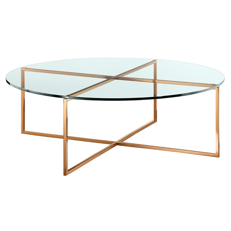 Elle Luxe Round Glass Coffee Table Ash Road