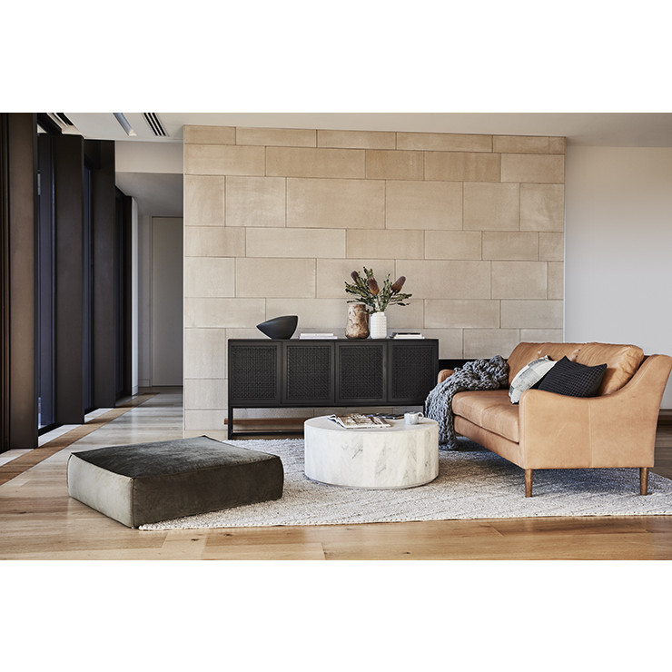 Elle Block Round Coffee Table White Marble Ash Road - Round block coffee table