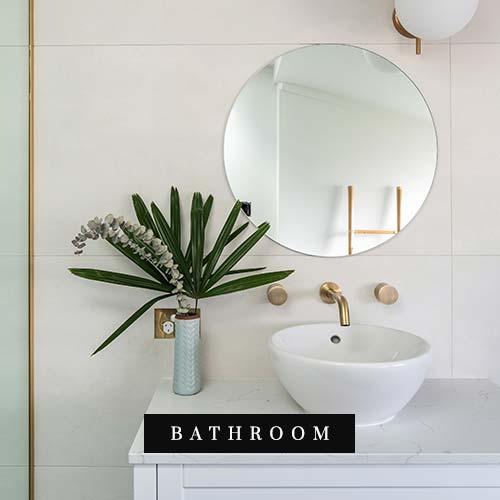 Blue room bathroom renovation image