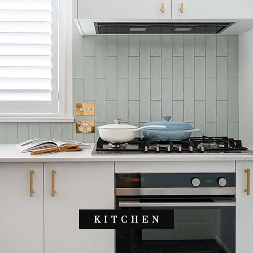 Blue room Kitchen renovation image